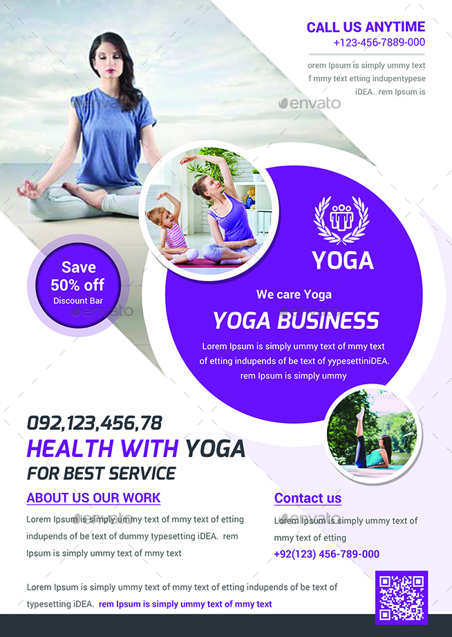 Yoga Flyers Bundle Template By Afjamaal  Graphicriver