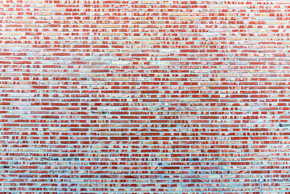 Background from a red brickwall - Stock Photo - Images