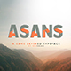 Asans Layer Font - GraphicRiver Item for Sale