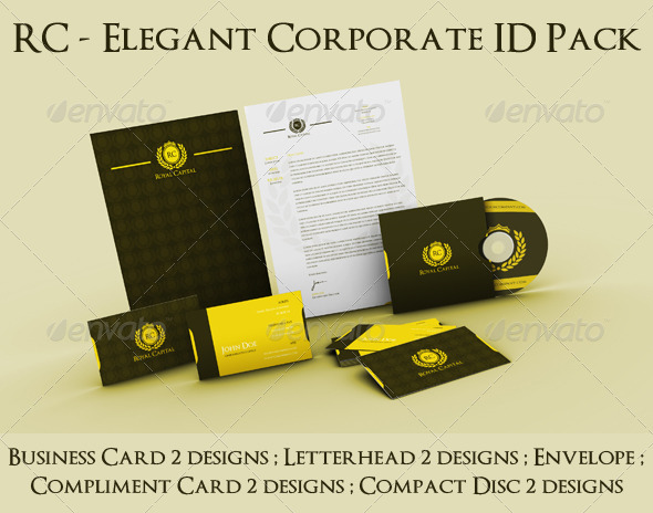 RC - Elegant Corporate ID Pack - Stationery Print Templates