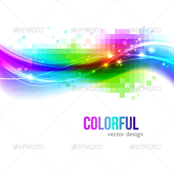 Abstract Background With Colorful Waves - Abstract Conceptual