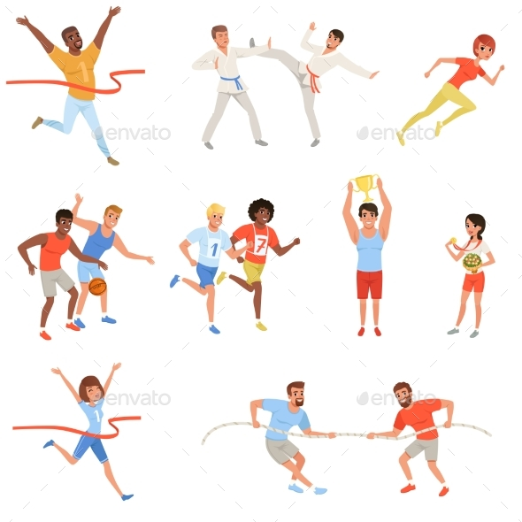 Flat Sports People - Sports/Activity Conceptual