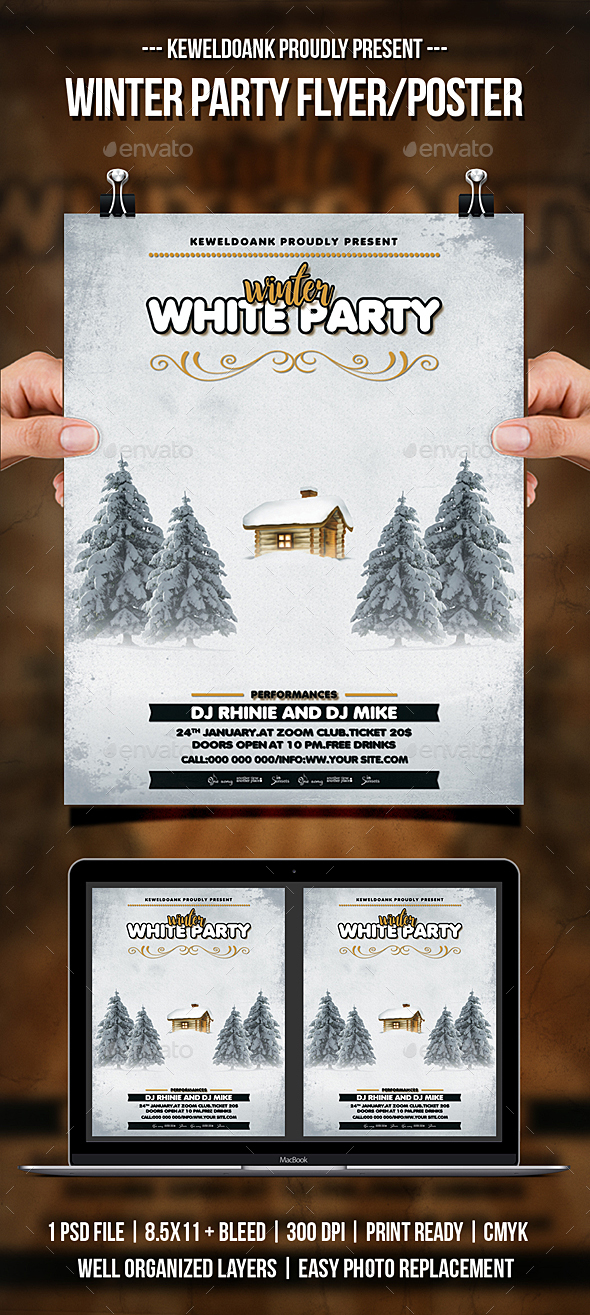 Winter Party Flyer / Poster - Clubs & Parties Events