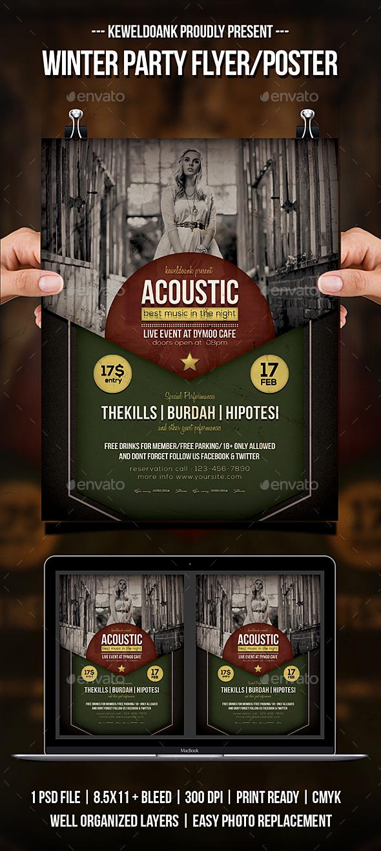 Acoustic Concert Flyer / Poster - Concerts Events