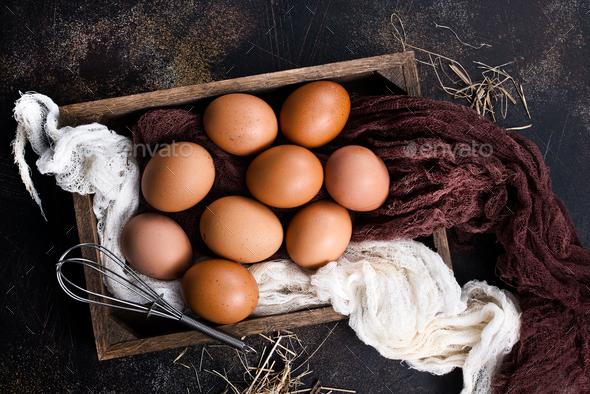 raw eggs - Stock Photo - Images