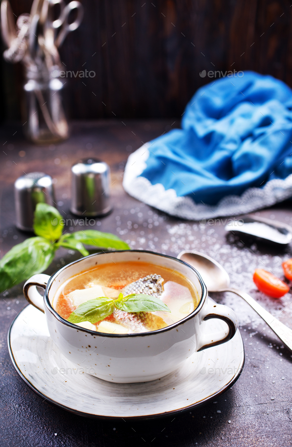 fish soup - Stock Photo - Images