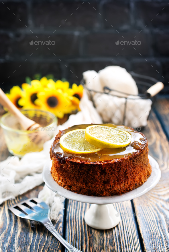 lemon pie - Stock Photo - Images