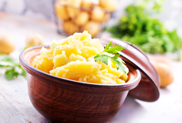 mashed potato - Stock Photo - Images