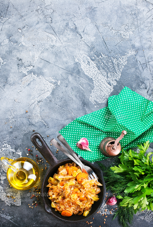 Cabbage stew - Stock Photo - Images