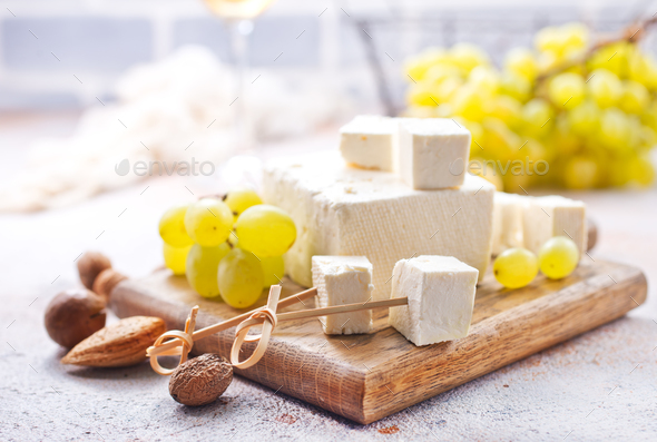wine and cheese - Stock Photo - Images