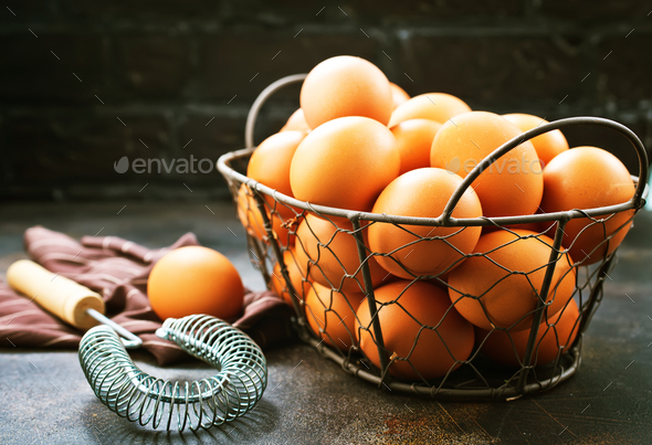 raw eggs - Stock Photo - Images