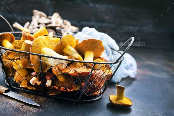raw mushrooms - Stock Photo - Images