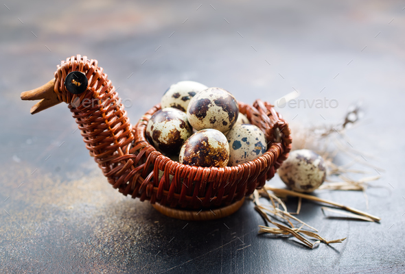 quail eggs - Stock Photo - Images