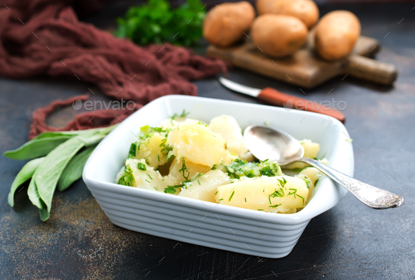 boiled potato - Stock Photo - Images