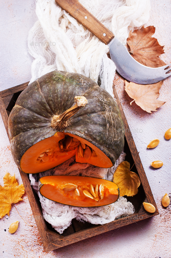 raw pumpkin - Stock Photo - Images