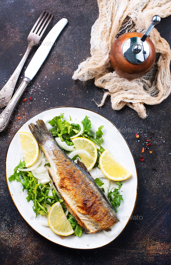 baked fish - Stock Photo - Images