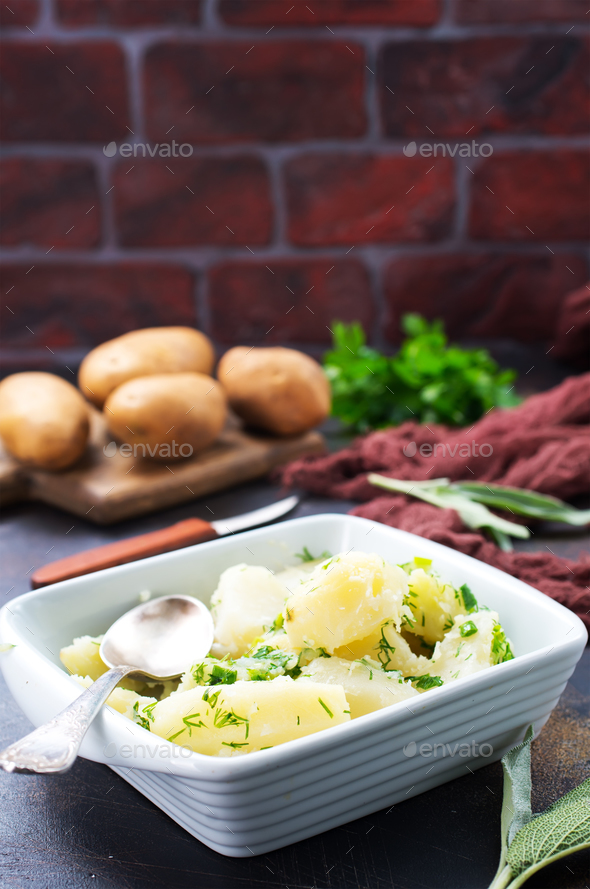 boiled potato - Stock Photo - Images
