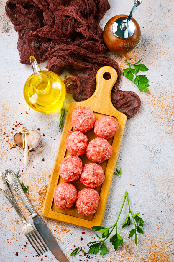 raw meatballs - Stock Photo - Images