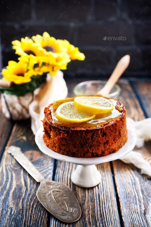lemon pie - Stock Photo - Images