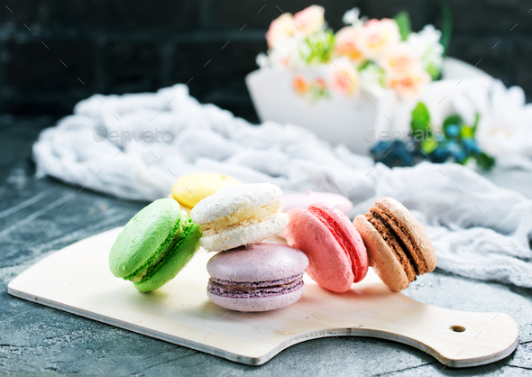 color macaroons - Stock Photo - Images