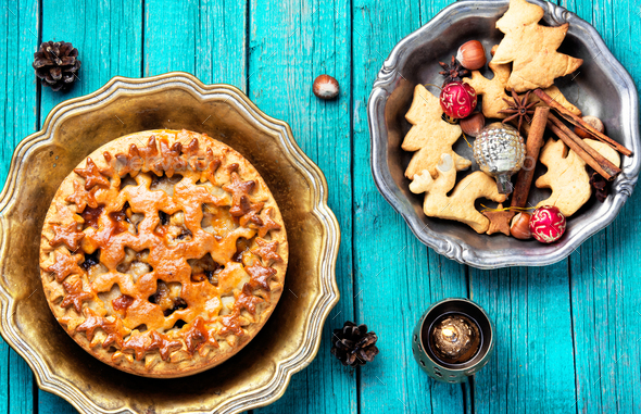 holiday home pie - Stock Photo - Images