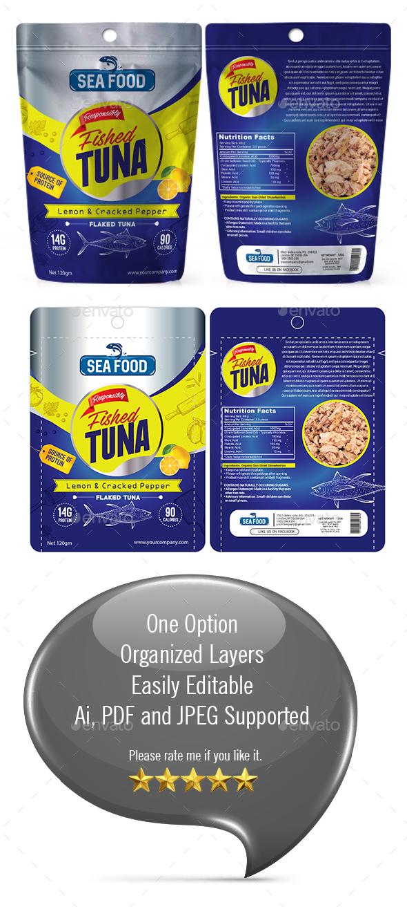 Sea food Packaging Template - Packaging Print Templates