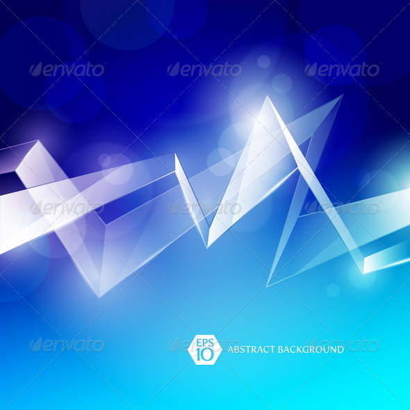 Abstract Background With Glass Elements - Abstract Conceptual