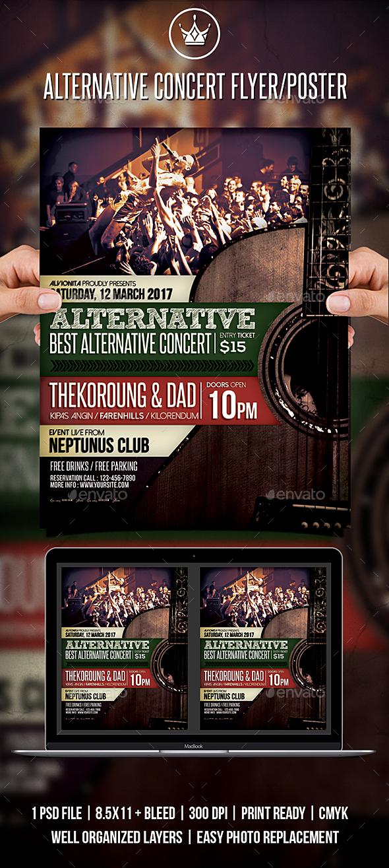 Alternative Concert Flyer / Poster - Concerts Events