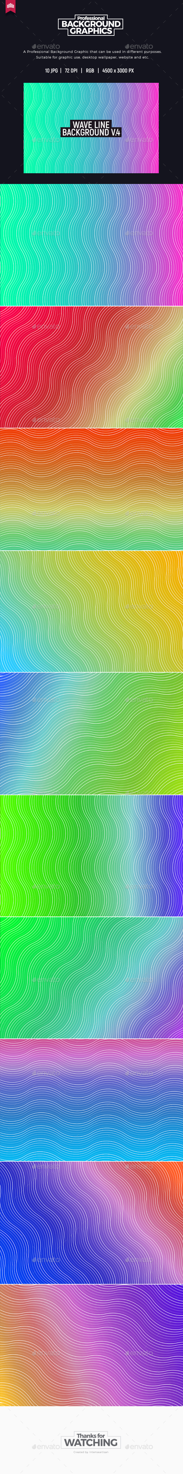 Wave Line Background V.4 - Patterns Backgrounds
