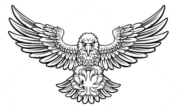 Eagle Bowling Sports Mascot - Sports/Activity Conceptual