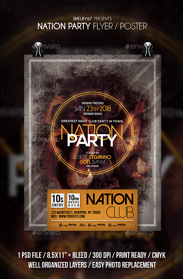 Nation Party Flyer - Clubs & Parties Events