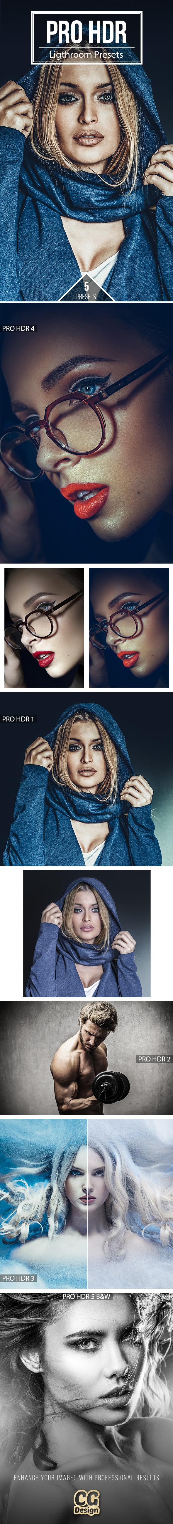 PRO HDR  - 5 Premium Lightroom Presets - Lightroom Presets Add-ons