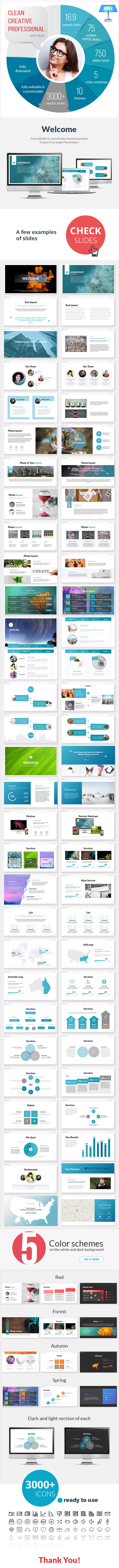 Multipurpose Nonprofit Keynote Presentation Template - Keynote Templates Presentation Templates