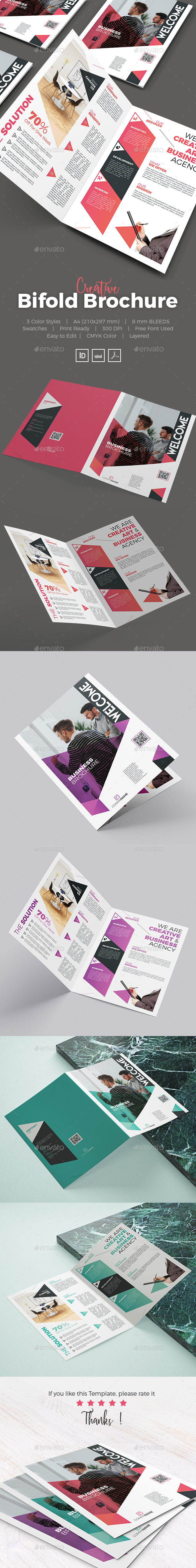 Creative Bifold Brochure - Corporate Brochures