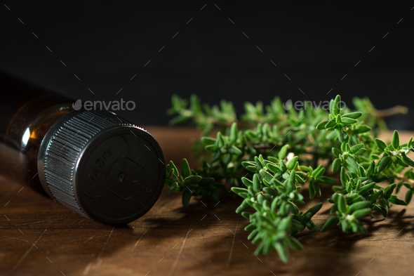 Thyme oil  - Stock Photo - Images