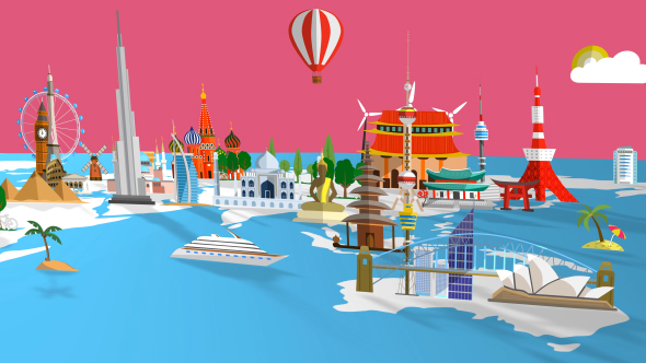 Travel world map by steve314 videohive travel world map gumiabroncs Images