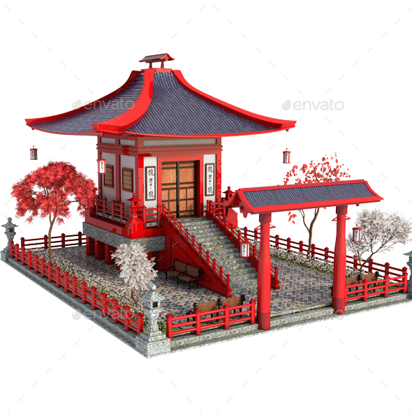 Asian House - Architecture 3D Renders