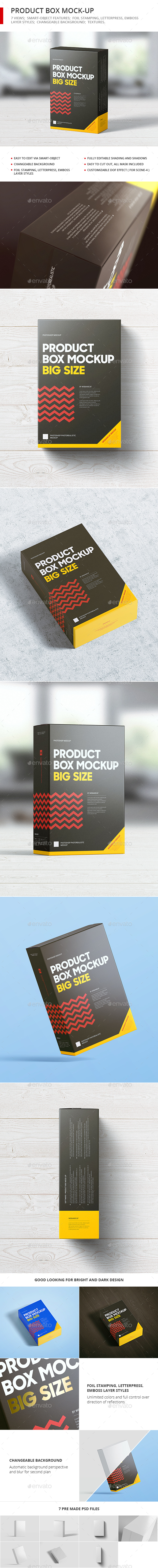 Product Box Mock-up - Food and Drink Packaging