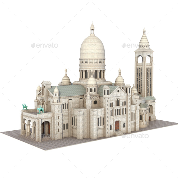 Sacre Coeur, Cathedral. Paris. - Architecture 3D Renders