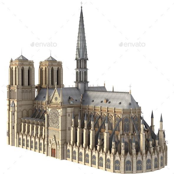 Notre Dame Cathedral, Paris. - Architecture 3D Renders