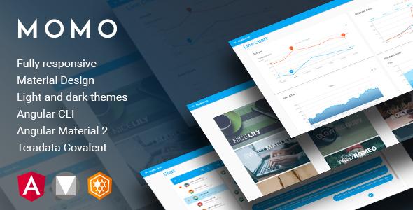 Momo - Angular 5 Material Design Admin Template - Admin Templates Site Templates