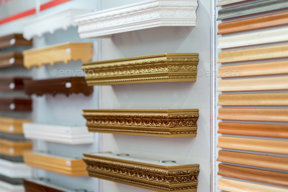 Selection of picture frames on display - Stock Photo - Images