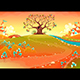 Countryside Landscape with Tree in the Sunset - GraphicRiver Item for Sale