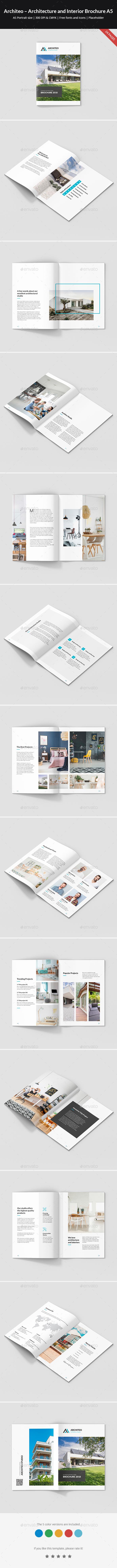 Architeo – Architecture and Interior Brochure A5 - Portfolio Brochures