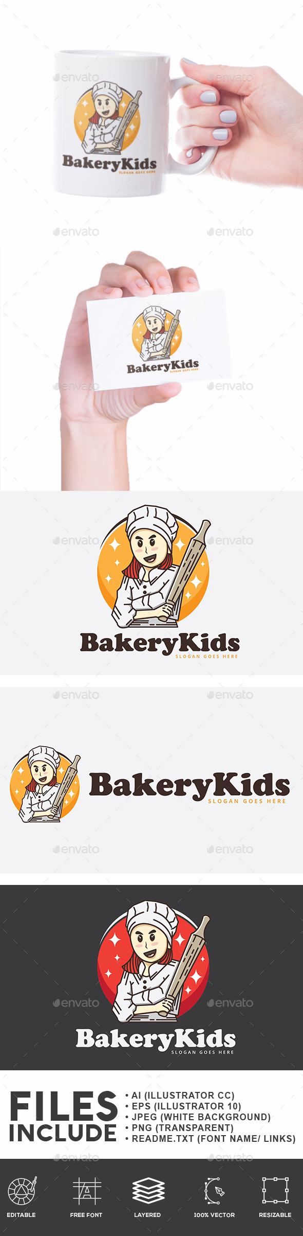 Baker Chef Kids - Humans Logo Templates