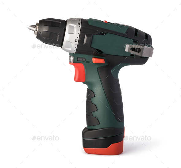 Cordless drill - Stock Photo - Images