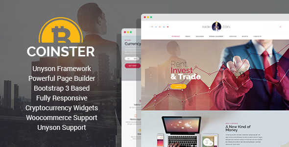 coinster - mining and cryptocurrency exchange wordpress theme (technology) Coinster – Mining and Cryptocurrency Exchange WordPress Theme (Technology) preview image 01
