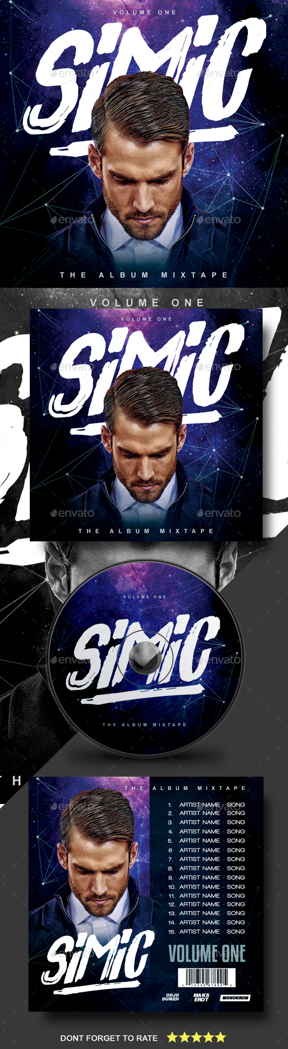 DJ CD Cover Artwork - CD & DVD Artwork Print Templates