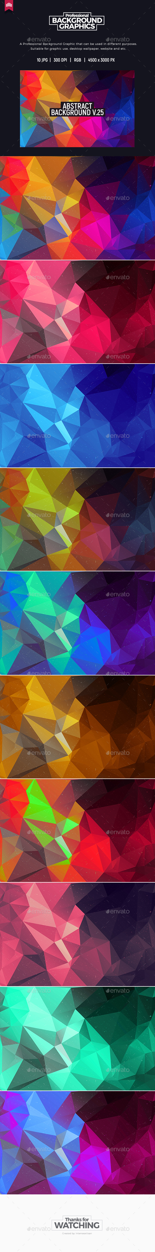 Abstract Polygon V.25 - Abstract Backgrounds