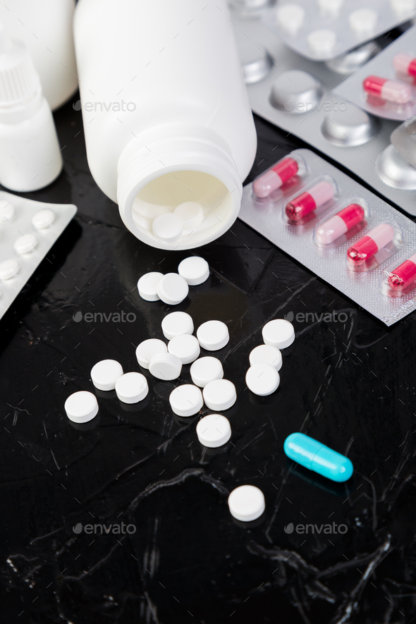 Pills. Medicine Pills in blister pack. - Stock Photo - Images